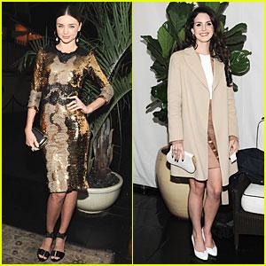 Miranda Kerr & Lana Del Rey: 'W' Magazine's Pre-Golden Globes Party!