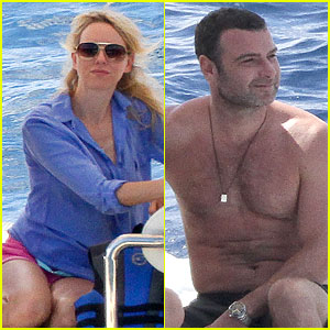 Naomi Watts: Boat Ride with Shirtless Liev Schreiber!