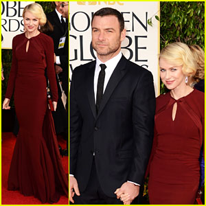 Naomi Watts & Liev Schreiber - Golden Globes 2013 Red Carpet