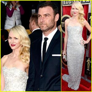 Naomi Watts & Liev Schreiber - SAG Awards 2013 Red Carpet