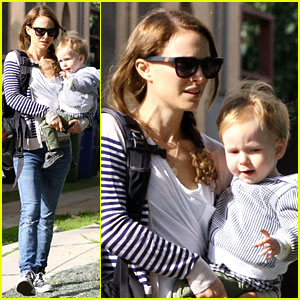 Natalie Portman & Aleph Visit Friends in Beverly Hills