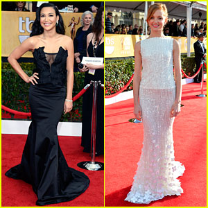 Naya Rivera & Jayma Mays - SAG Awards 2013 Red Carpet
