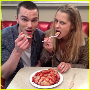 Newly Single Nicholas Hoult Eats Brains with Teresa Palmer!