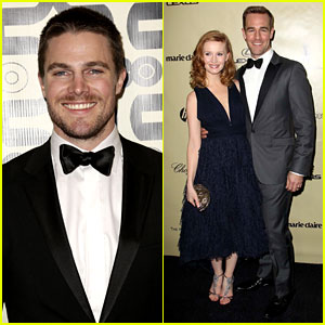 Newlywed Stephen Amell - HBO's Golden Globes Party 2013