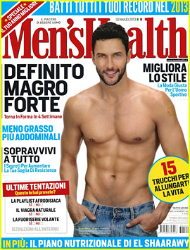 Noah Mills: Shirtless for 'Men's Health Italia' January 2013