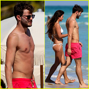 Once Upon a Time's Jamie Dornan: Shirtless in Miami!