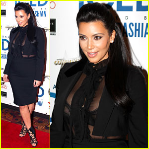 Pregnant Kim Kardashian: Sheer Top at ICED Festival!