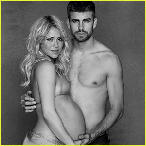 Shakira: Bare Baby Bump with Shirtless Gerard Pique!