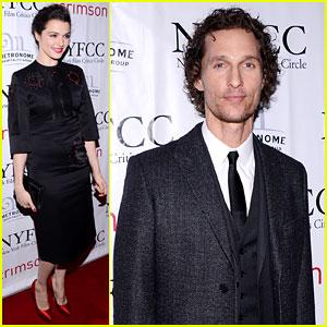Rachel Weisz & Matthew McConaughey: NYFCC Awards!
