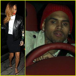 Rihanna & Chris Brown: Greystone Manor Night Out!