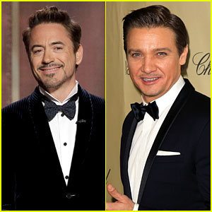 Robert Downey, Jr. & Jeremy Renner - Golden Globes 2013