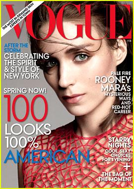 Rooney Mara Covers 'Vogue' February 2013