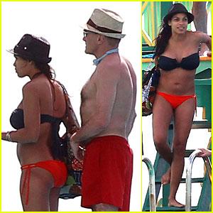 Rosario Dawson: Barbados Bikini with Shirtless Danny Boyle!