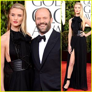 Rosie Huntington-Whiteley & Jason Statham - Golden Globes 2013 Red Carpet