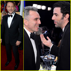 Russell Crowe &#038; Sacha Baron Cohen - SAG Awards 2013