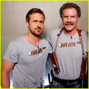 Ryan Gosling &amp; Will Ferrell: Knife Guys for 'Jimmy Kimmel Live'