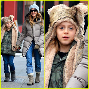 Sarah Jessica Parker: James Wears Bear Hat!
