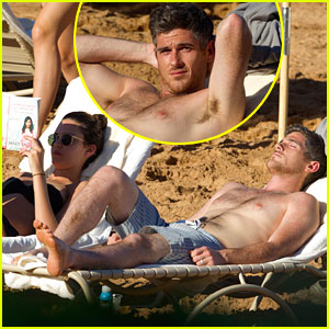 Shirtless Dave Annable: Maui Vacation with Bikini Clad Wife Odette