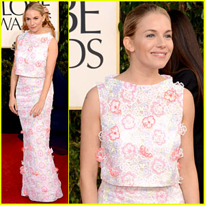 Sienna Miller - Golden Globes 2013 Red Carpet