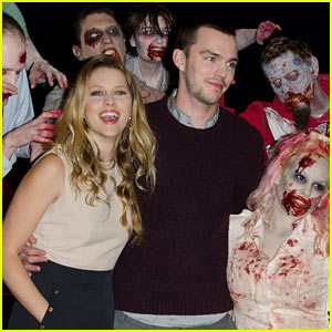 Teresa Palmer & Nicholas Hoult: 'Warm Bodies' London Photo Call