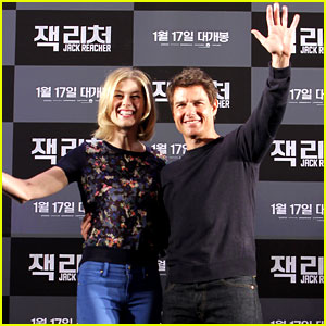 Tom Cruise & Rosamund Pike: 'Jack Reacher' Seoul Photo Call