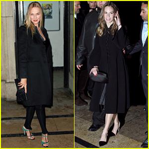 Uma Thurman & Hilary Swank: Giorgio Armani Paris Fashion Show