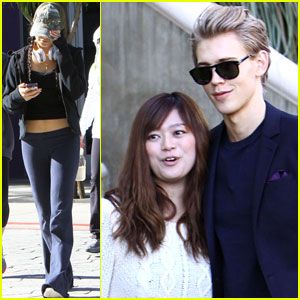 Vanessa Hudgens & Austin Butler: Separate Studio City Outings