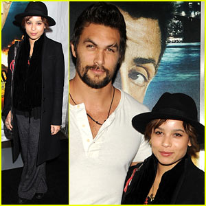 Zoe Kravitz & Jason Momoa: 'Bullet to the Head' Premiere!