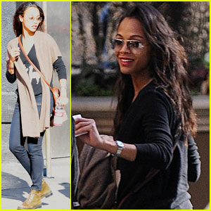 Zoe Saldana: Saturday Stop at The Roxy!
