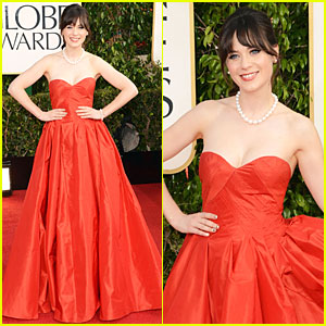 Zooey Deschanel - Golden Globes 2013 Red Carpet
