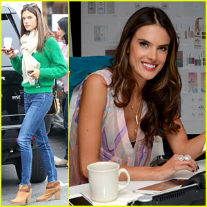 Alessandra Ambrosio Works on 'ale by Alessandra' Designs