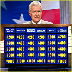 Alex Trebek: 'Call Me Maybe' 'Jeopardy!' Categories!