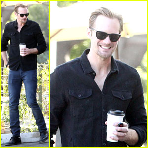 Alexander Skarsgard: Post Super Bowl Lunch in Los Feliz!