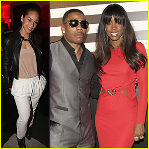 Alicia Keys & Kelly Rowland: Grammys After Parties