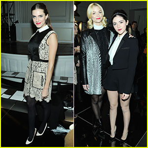 Allison Williams & Jaime King: Jason Wu Fashion Show!