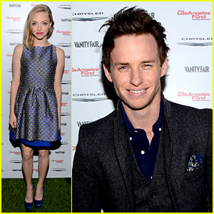 Amanda Seyfried & Eddie Redmayne: Vanity Fair Pre-Oscars Party 2013