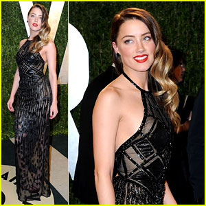 Amber Heard - Vanity Fair Oscars Party 2013