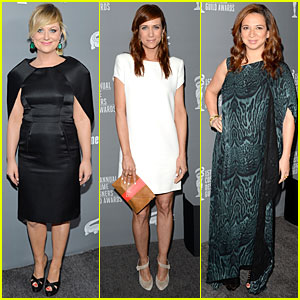 Amy Poehler & Kristen Wiig - Costumer Designers Guild  Awards 2013 Red Carpet