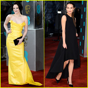 Andrea Riseborough & Alicia Vikander - BAFTAs 2013