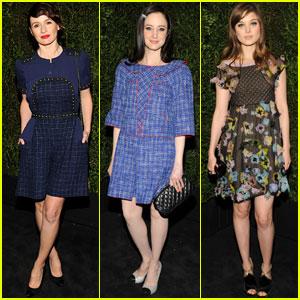 Andrea Riseborough &  Emily Mortimer: Chanel Pre-Oscars Dinner 2013