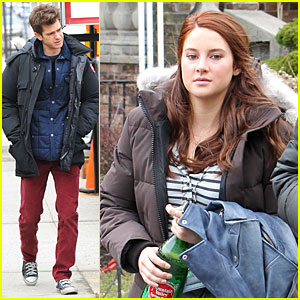 Andrew Garfield: 'Amazing Spider-Man 2' Set with Motorcyclist Shailene Woodley!