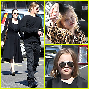 Angelina Jolie & Brad Pitt: Valentine's Day with the Twins!