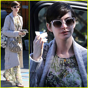Anne Hathaway Steps Out Post-Oscar Win in Beverly Hills!