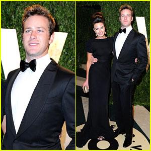 Armie Hammer & Elizabeth Chambers - Vanity Fair Oscars Party 2013