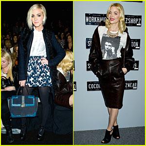 Ashlee Simpson & Jaime King: Rebecca Minkoff Fashion Show!