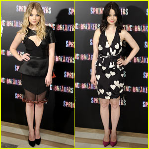 Ashley Benson & Rachel Korine: 'Spring Breakers' Madrid Photo Call!