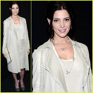 Ashley Greene: Front Row at Ferragamo Fashion Show
