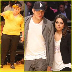 Ashton Kutcher & Mila Kunis: Lakers Game Couple!