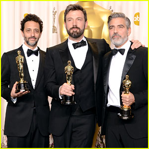 Ben Affleck & George Clooney Win Best Picture Oscar 2013