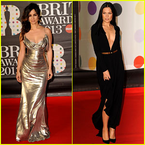 Berenice Marlohe & Jessie J - BRIT Awards 2013 Red Carpet